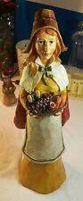 "Burton + Burton Harvest Time 18"" Resin Statue/Figurine Pilgrim Thanksgiving Fall"