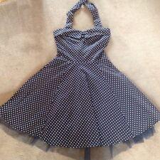 Ladies Apricot Halter Neck Swing Dress Size 10