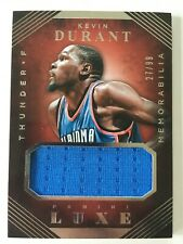 NBA Basketball - KEVIN DURANT - Panini Luxe - Jersey Trikot Card No.27/99