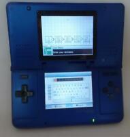 Original Nintendo DS Cobalt Electric Blue Handheld System NTR-001