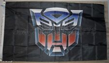 AutoBots Transformers 3'x5' Flag Banner Black Optimus Prime USA Seller Shipper