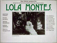 LOLA MONTES 1955 Martine Carole, Peter Ustinov, Anton Walbrook UK QUAD POSTER