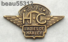 LADIES OF HARLEY DAVIDSON OWNERS GROUP HOG LOH 2013 VEST JACKET HAT PIN 13