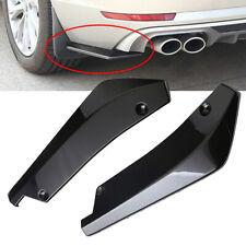 2Pcs/Set Car Rear Bumper Lip Diffuser Splitter PP Canard Protector Glossy Black