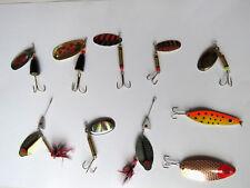 Pêche carnassiers ; lot de 10 cuillers big predator pour gros carnassiers