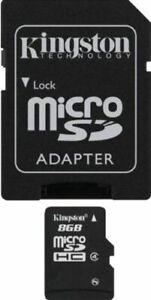 Kingston SDC4/8GB Flash memory card, 8 GB Storage Capacity