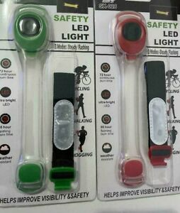 Torch Light LED Clip On Hands Free Flashlight Clothes Cycling Running Night
