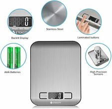 Kitchen Scale Electronic Food Weighing Liquid Crystal Digital w/two Battery