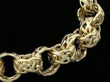 B07 Genuine 9K Solid Gold Celtic BELCHER Link BRACELET Keltic style 7.5inch LONG