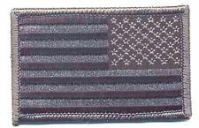 "3 1/4"" Reverse ACU Black Gray United States US Flag Patch VELCRO® BRAND Compatib"