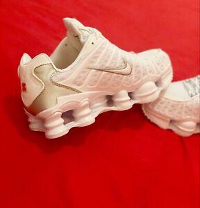 5⭐️ Nike Shox TL White Size 7.5 / 42 EUR Great AirMax. Men's Trainers Full White