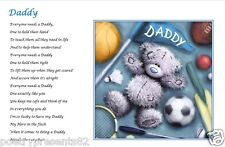 DADDY - Personalised Gift (Laminated Poem) fathers day / birthday gift