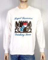 vtg 80s retro Puffy Paint Logo Royal Bavarian Drinking Team Sweatshirt raglan XL