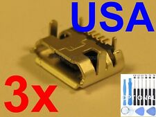 3x Lot USB Charging Port Micro Charger Sync for BLACKBERRY Curve 8520 8530 USA