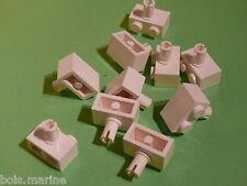Lego 10 briques avec clip blanc 3420 3831 7573 6397 /10 white brick modified