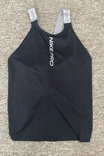 Nike Pro Women Elastika Tank Top Vest Training Black Size M