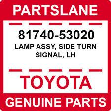 81740-53020 Toyota OEM Genuine LAMP ASSY, SIDE TURN SIGNAL, LH