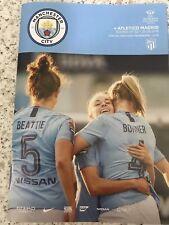 Man City Women FC v Atletico Madrid FC Programme (Season 2018-2019)