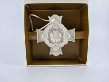 New ListingMargaret Furlong '98 Blooms of Hope Cross Porcelain Bisque Christmas Ornament