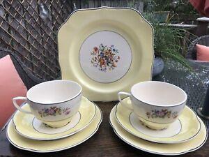 Vintage Johnson Bros Cups/Saucers/Plates Trios Tea Set Pareek Pottery England