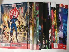 Avengers comic lot Marvel Now Avengers 2013 lot of 24 1-36 VF/VF+ Bagged