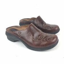 Ariat Savannah Brown Mules Clogs Womens Floral Leather Size 8 B  Style 21426 EUC