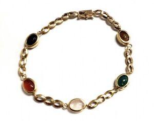 14k gold Europian scarab bracelet. PAT4697315.