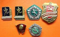 SET OF RUSSIAN USSR Various Badges Pins