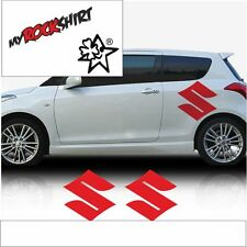 """Suzuki Logo 2 Stück 40x30cm  `+ Bonus Testaufkleber """"Estrellina-Glückstern"""" ®, g"""
