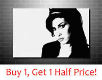 AMY WINEHOUSE CANVAS PRINT  : FRAMED BOX CANVAS WALL ART PICTURE : Ready To Hang