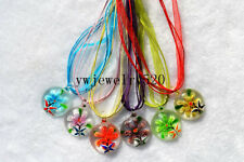 Wholesale Lots 6Pcs Animal Murano Glass Pendant 3+1 Necklace FREE