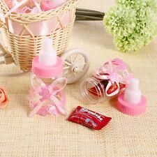 2Pcs Creative Bear Bow Baby Feeding Bottle Storage Box Kids Toy Gifts Pink