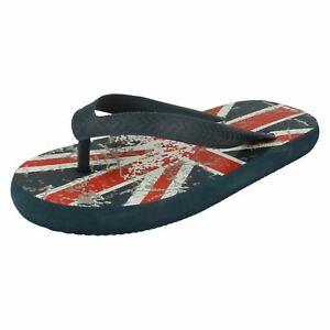 Ragazzi Spot On Union Jack Slip On Infradito Sandali Estivi N0R022