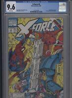 X-Force #4 CGC 9.6 Rob Liefeld 1991 classic sideways issue