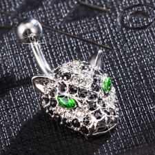 Leopard Belly Button Ring Funny Surgical Steel Navel CZ Body Piercing Jewelry