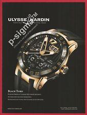ULySSE NARDIN Black Toro watch Print Ad