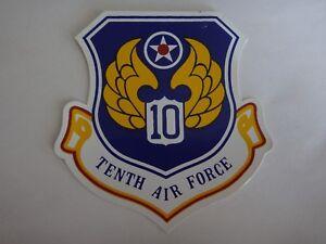 USAF 10th Dixième Air Force Décalque Autocollant