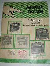 vtg 1959 Pointer System for the Wurlitzer Organ, book 2 very easy pop songs