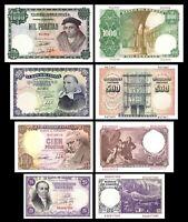 2x  25, 100, 500, 1000 Pesetas - Edición 1946 - Reproducción - 14