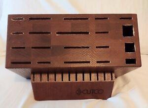 32 Slot Signature or Ultimate Set Cutco Wood Knife Block Made in USA