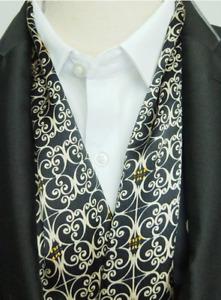 100% Mulberry Silk Satin Scarf men neckerchief muffler Wrap black gray MN1-8