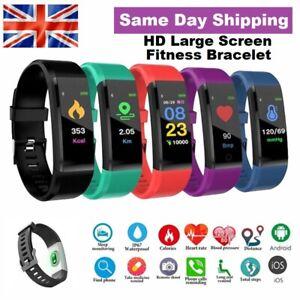 Smart Bluetooth Fitness Tracker Activity Running Sport Watch Bracelet Heart Rate