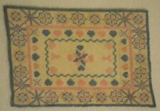 Miniature Needlepoint Carpet Rug Dollhouse 1:12 Petit Point