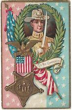American Patriotic Embossed Postcard Decoration (Memorial) Day To My Comrade