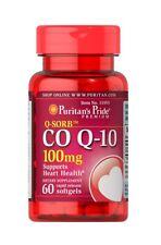 Puritan's Pride Q-SORB Co Q-10 100mg 60 Rapid Release Softgels CoQ10 Q10 Heart