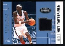 DARIUS MILES 2002/03 HOOPS HOT PROSPECTS MATERIALS CLIPPERS RELIC JERSEY SP $15