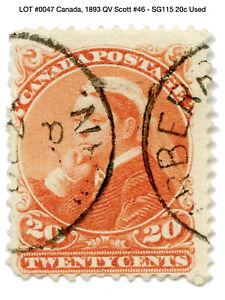 0047: Canada, 1893 QV Scott #46 - SG115 20c Used