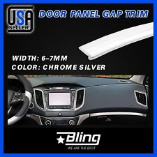 10Feet Silver Car SUV Vehicle Interior Garnish Edge Molding Gap Trim Strip Line