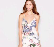 Ted Baker-Pink Floral 'Kensington' camisole vest / Pyjama top.UK 14