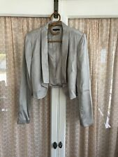 Portmans Cropped Silver Grey Jacket Size 14-16